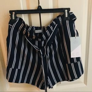 Women's Navy and White Shorts by Ci Sono